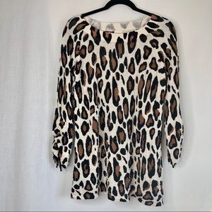 Chico's Leopard print long sleeve top 2